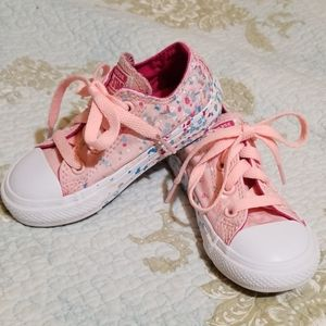Converse Pink Confetti shoes, Toddler size 7